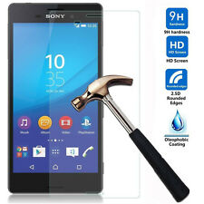 9H Premium 100% Real Tempered Glass Film Screen Protector For Sony Xperia phones