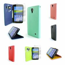 For Samsung Galaxy Mega 2  Stand Flip Wallet Cover Case Card + Screen Protector