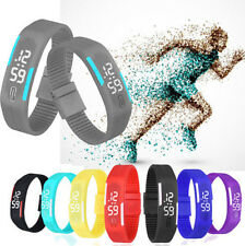 2015 New Ultra Thin Men Girl SSHU Sports Silicone Digital LED Sports Wrist Watch