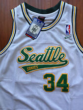 NBA Seattle Supersonics Ray Allen Throwback Classic Sewn/Stitched Jersey NWT