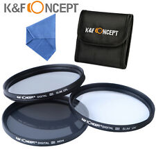 52 55 58 62 67 72 mm Slim  UV CPL ND4 Lens Filter Kit For Nikon Sony Sigma Canon