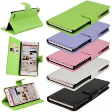 PU Leather Flip Open Book Wallet Card Case Cover Pouch Stand For Huawei Phone