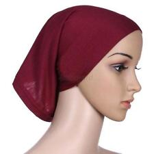 Solid Color Women Ladies Islamic Head Cover Under Scarf Hijab Tube Bonnet Cap