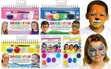 Snazaroo Face Painting Kits Sets Instructions Step by Step Guide Glitter Mermaid