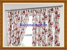 Luxery Charlotte Fully Lined Curtains - Red / Cream - 8 Sizes