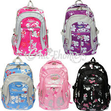 Flower Girl Kid Children School Book Shoulder Travel Fancy Bag Backpack Rucksack