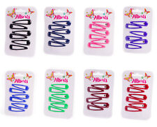 6pc Bendies Sleepies Hair Snap Clip Slides Girls School Uniform Colours Hairclip