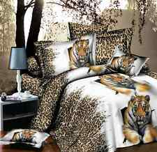 3D Duvet Cover Pillow Case Quilt Cover Bedding Set Single Queen King Tiger NEW