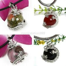 Multi Style Dragon Wrap Ball Bead Gemstone Natural Stone Pendant Fr Necklace