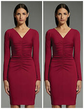 Narciso Rodriguez Limited Edition For Designation Large Red Ruched Sheath Dress