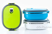 Stainless Steel Insulated Bento Lunch Box Picnic Thermal Lunchbox Food Container