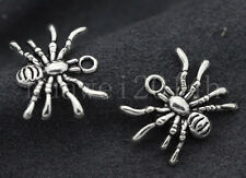 10/40/200pcs Tibet Silveran Lovely spider Jewelry Finding Charms Pendant 19x14mm