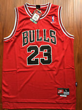NBA Chicago Bulls Michael Jordan RED Throwback Classic Sewn Jersey NWT