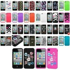 Color Design Silicone Rubber Soft Skin Cover Case Accessory For iPhone 4 4S 4G