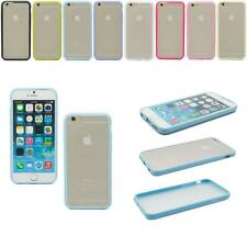 New Soft TPU Bumper Frame PC Matte Clear Hard Case Cover For Apple iPhone 6 4.7""