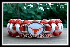 Texas Longhorns Paracord Bracelet Officially Licensed NCAA Collegiate Charm