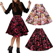 VTG 50s 60s FLORAL Rockabilly PINUP PARTY Dress Up FULL Circle Pleated SKIRT