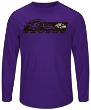 Baltimore Ravens Mens Long Sleeve Synthetic Storm Shirt Purple Big & Tall Sizes