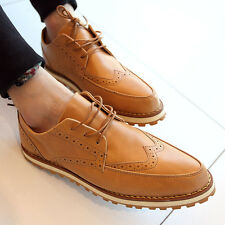 British Boy Promotion Faux leather Brogue wingtip Mens oxford Casual Dress Shoes