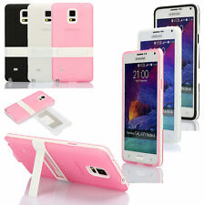 Hybrid TPU Clear Shockproof Kickstand Case Cover For Samsung Galaxy Note 4 N9100