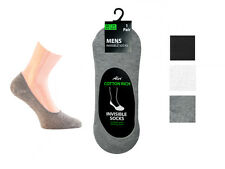 MENS INVISIBLE TRAINER SHOE SOCKS Cotton Blend LINERS WHITE GREY BLACK 6 TO 11