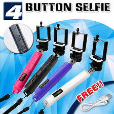 BUILT-IN Shutter Remote Bluetooth Selfie Stick Unipod for iphone samsung phone