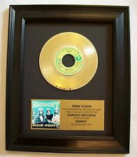Pink Floyd MONEY Gold 45 rpm Record + Mini Album & Plaque Not a RIAA Award