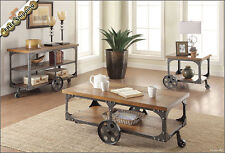 Rustic Coffee Table, Side End Tables or Console TV Stand - Antique Country Set