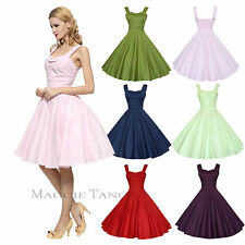 Maggie Tang 50s 60s Vintage Cocktail Retro Swing Rockabilly Ball Gown Dress 583