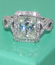 Size 5,6,7,8,9,10,11 HOT Women's White Sapphire 925 Sterling Silver Wedding Ring