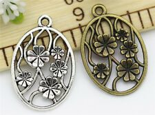 8/30/150pcs Tibetan Silver BeautifulFaceplate Jewelry DIY Charms Pendant 32x22mm