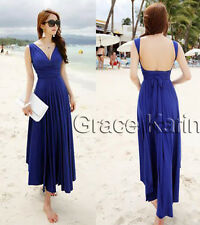 Women's Summer Stylish Convertible Multiway Ball Party Evening Maxi Beach Dress