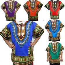 African Men Women Dashiki Shirt Top Blouse Hippie Tribal Caftan Sizes S M L XL