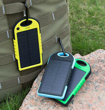 8000mAh 2 USB Waterproof Solar Power Bank Battery Charger for Iphone Samsung HTC