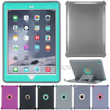 Heavy Duty High Impact Rugged Defender Series Case + Shield Stand For iPad Air 2