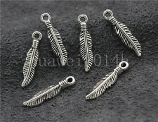 20/60/300pcs Tibetan Silver beautiful  feather Jewelry  Charms Pendant 19x4mm
