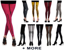ZOHARA TIGHTS - ART ON TIGHTS - FOOTLESS & TIGHTS - REVERSIBLE - FREE SIZE