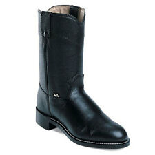 Mens Black cow Roper Boots By Justin Boots 3000