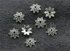 50/200/1000pcs Tibetan Silver Flower Bead Caps Charms Beads Cap Jewelry DIY 7mm