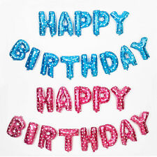 """16"""" Letter Combination """"HAPPY BIRTHDAY"""" Foil Balloons Party Birthday Decoration"""