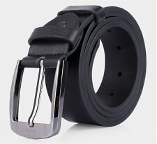 New Casual Mens Alloy Buckle Leather Belt Fashion Waistband Dress Pin Wide Belts