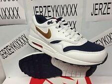 Men's Nike Air Max 1 Essential USA Olympic White Gold Navy 537383-127 SIZE 8-13