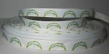 "GROSGRAIN SAN DIEGO CHARGERS FOOTBALL 3/8"" RIBBON 1, 3,  5 YARDS*SHIPS FREE*USA*"