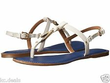 TOMMY HILFIGER LENITA NAVY WHITE WOMENS FLIP FLOP THONG SANDALS