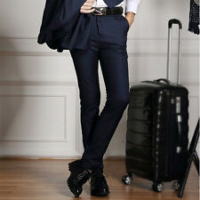 New Stylish Mens Slim Fit Formal Skinny Suit Pants Long Business Dress Trousers