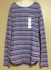 "GIRLS ""Old Navy"" Waffle Print  Long Sleeve Striped Top Shirt NWT XL (14)"