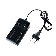Double Battery Charger For 18650 14500 26650 Rechargeable Li-Ion Batteries EU