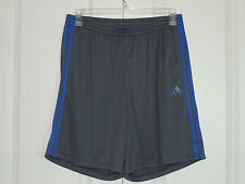 New Adidas MENS Essential Climalite Gym Basketball Mesh Shorts Grey SZ XL 2XL