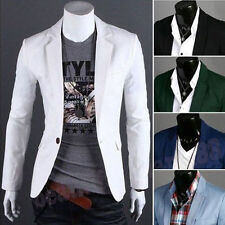 New Stylish Men's Casual Slim Fit One Button Suit Blazer Coat Jacket Tops Suits