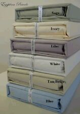 "4pc Luxury 300 Thread Count Solid Egyptian Cotton Percale Sheet Set - 21"" Deep"